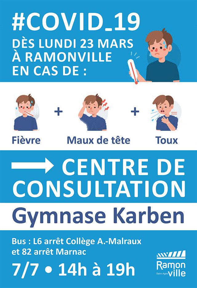 Ouverture d'un centre de consultation COVID19 à Ramonville