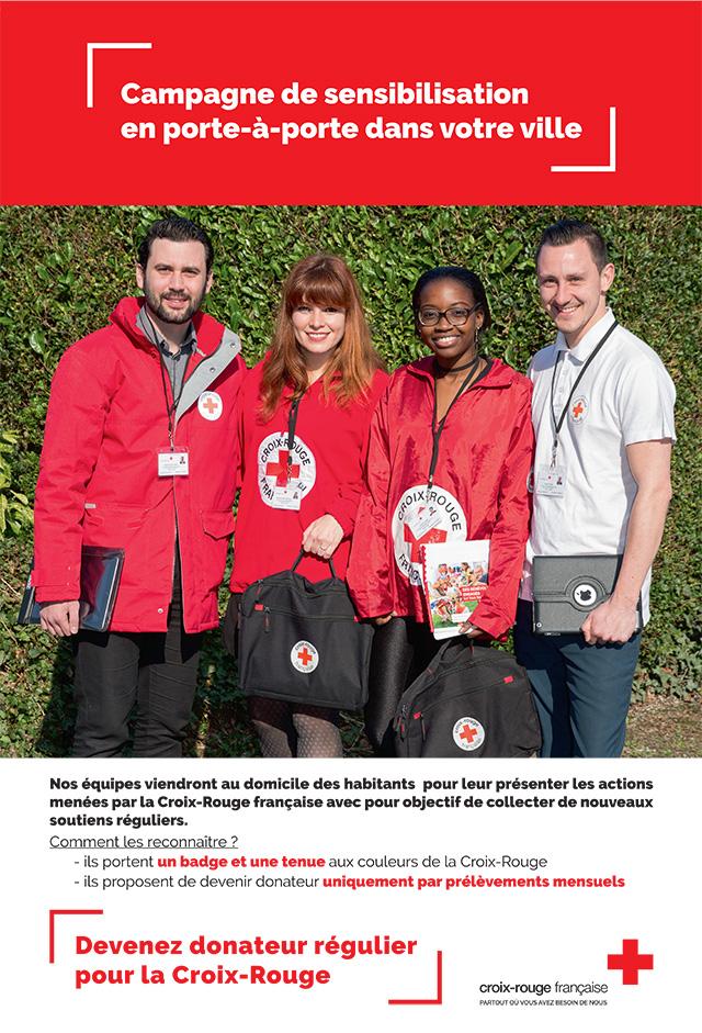 Campagne de porte à porte de la Croix Rouge à Ramonville