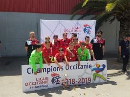 Les garçons de l'U13 du Crahb sacrés champions d'Occitanie
