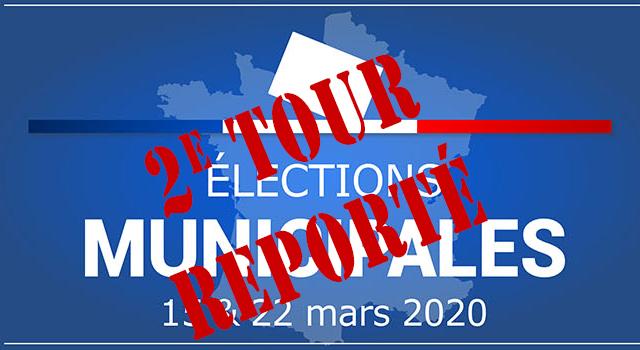 Report du 2e tour des élections municipales