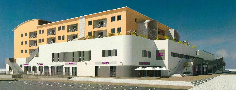 Rénovation de la façade du centre commercial place Marnac
